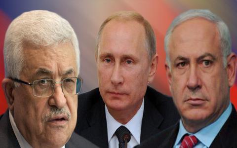 بنيامين نتنياهو،فلاديمير بوتين،محمود عباس