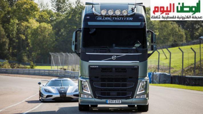 فيديو - شاحنة فولفو FH في سباق مع كينيجسيج One:1 الخارقة