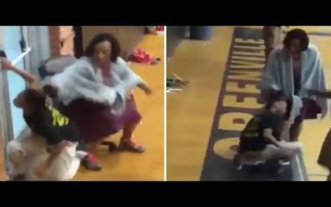 فيديو - معلمة تعذب تلميذتها المعاقة بطريقة وحشية