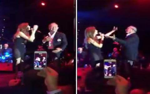 فيديو - ثاني أغنى رجل بمصر في وصلة رقص مع نانسي عجرم