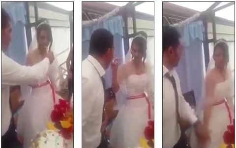 فيديو - عريس لم يتحمل الزواج لأكثر من 15 دقيقة