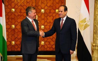 الرئيس المصري عبد الفتاح السيسي الملك الأردني عبد الله الثاني