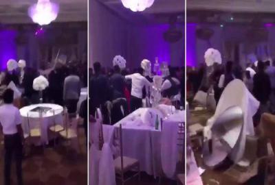 شاهد بالفيديو - حفل زفاف يتحول إلى حفل مأساوي بعد توزيع شاب صوراً فاضحة مع العروس