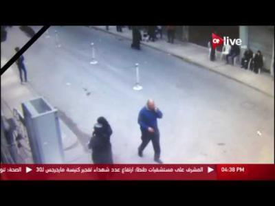 فيديو يظهر لحظة تفجير الكنيسة المرقسية