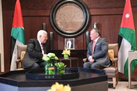 الرئيس محمود عباس العاهل الأردني الملك عبد الله الثاني