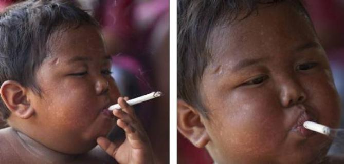 """هل تذكرون """"طفل السيجارة"""" الشهير؟ لن تتوقعوا كيف أصبح!"""