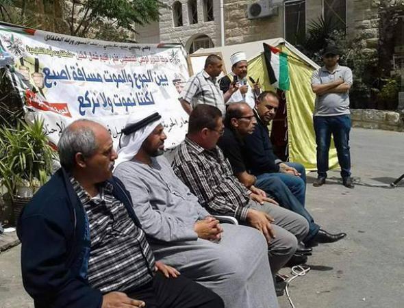 الشخصيات المستقلة بالضفة الغربية تعتصم لدعم الأسري