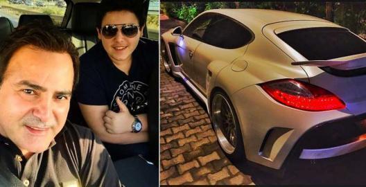 نجل عاصي الحلاني ينشر صورة لسيارته الـ بورش