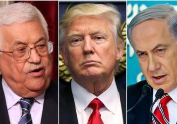 دونالد ترامب وبنيامين نتنياهو ومحمود عباس