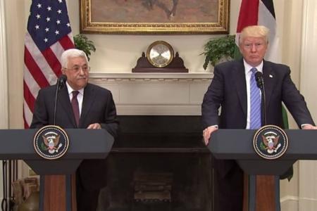 محمود عباس ودونالد ترامب