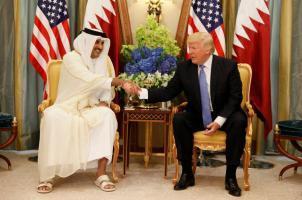 دونالد ترامب، وأمير قطر الشيخ تميم بن حمد