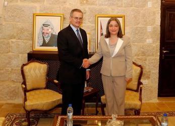 معايعة تلتقي وزير خارجية كوستاريكا في بيت لحم