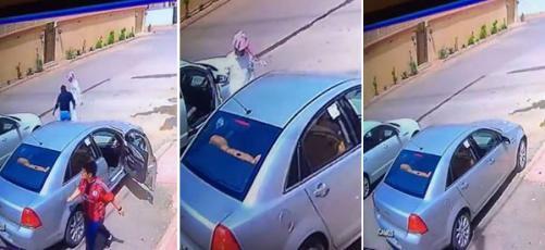 شاهد: فيديو يوثق سرقة سيارة بعد خداع السائق بهذه الحيلة ومحاولة دهسه!