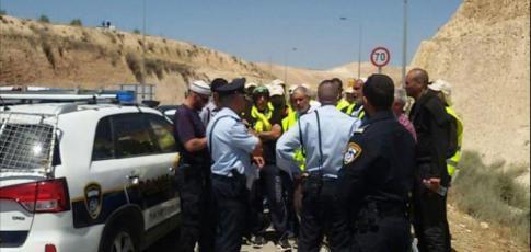"""الاحتلال يمنع مسيرة """"المشي من حيفا للأقصى"""" من دخول القدس"""