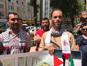أتراك وفلسطينيون يتضامنون مع الأسرى جنوب تركيا
