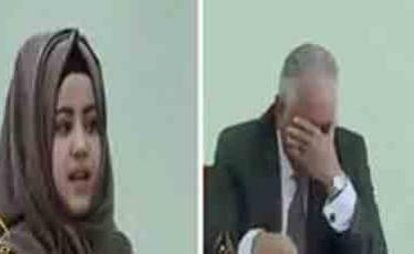 شاهد .. شابة عراقية تُدخل قاضي ينظر بقضيتها في نوبة بكاء لتأثره بكلامها