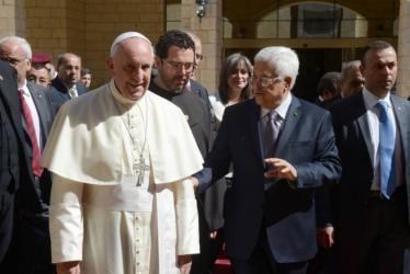 أبومازن وبابا الفاتيكان