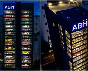 هذا المبنى الزجاجي ذو الـ 15 طابقاً هو أكبر آلة بيع في العالم