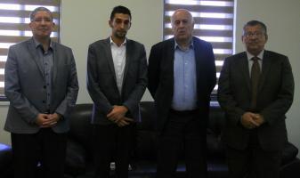 السفير الإكوادوري يلتقي الرجوب بمقر الاتحاد الفلسطيني لكرة القدم