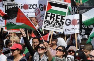 متضامنون مع فلسطين في لندن