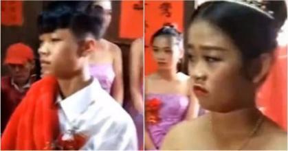 ضجة بسبب زواج طفلين لا يتجاوزان 13 عاماً! (فيديو)
