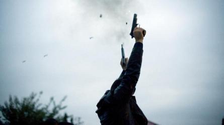 اطلاق نار في الهواء