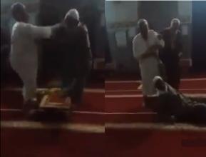 فيديو  مشاجرة عنيفة بين المصلين داخل مسجد بالمغرب في صلاة الفجر!