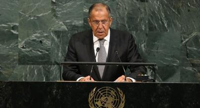 سيرغي لافروف في كلمته أمام الجمعية العامة للأمم المتحدة