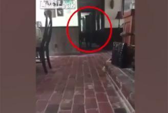 بالفيديو.. لقطات مرعبة لكاميرا ترصد شبحاً يتحرك داخل منزل