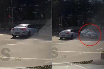 بالفيديو - حادث غريب.. سيارة شبح ظهرت فجأة وتسببت بحادث ثم اختفت!