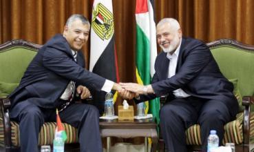 تفاصيل لقاء هنية مع وزير المخابرات المصرية بغزة