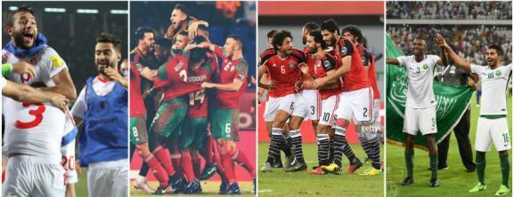 4 منتخبات للمرة الأولى.. السعودية ومصر والمغرب وتونس تتأهل إلى روسيا 2018