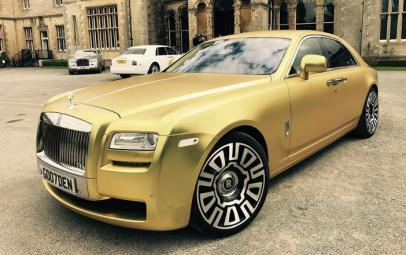 امتلك سيارة رولز رويس بلون ذهبي مميز مقابل 16 بيتكوين !