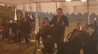 الاهالي العرب بالرملة يحتجون على هدم البيوت بمشاركة النائب يوسف جبارين