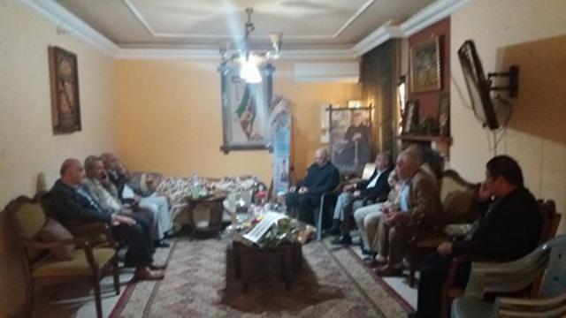في اطار التواصل الاجتماعي هيئة المتقاعدون العسكريون تزور العميد ابو زعيتر للاطمئنان عليه بغزة