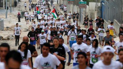انطلاق ماراثون فلسطين الدولي السادس في بيت لحم