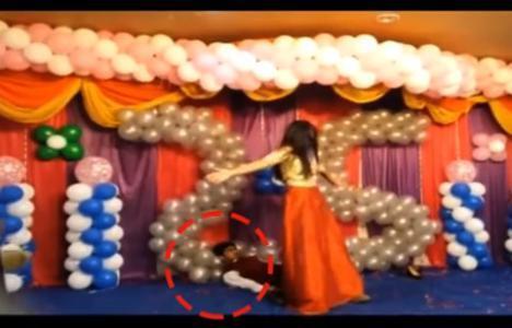 حادث مأساوي.. وفاة عريس كان يرقص مع عروسه أمام المعازيم (فيديو)