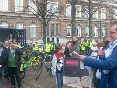 مسيرة بالدراجات الهوائية دعما لفلسطين في هولندا