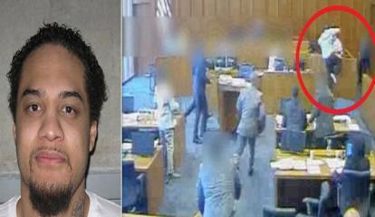 بالفيديو.. إطلاق النار على متهم حاول قتل شاهد داخل المحكمة