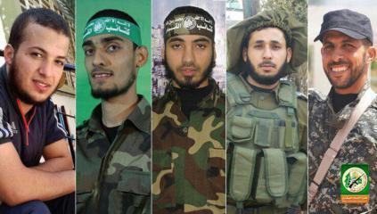 القسام تزف 5 من مجاهديها ارتقوا خلال مسيرات العودة