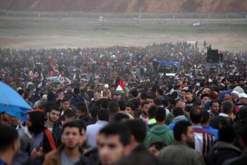 الضفة والاردن ولبنان ومتضامنين أجانب سيلتحقون بملونية مسيرات العودة