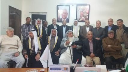 المتقاعدون العسكريون يلتقون باتحاد القبائل العربي في البلاد العربية بغزة