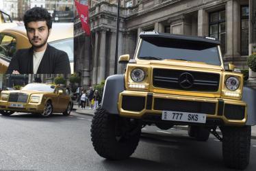 أجمل السيارات الذهبية الخاصة بتركي بن عبدالله (صور)