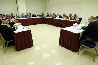 الوفد المصري يجتمع مع رؤساء العشائر والقبائل في غزة