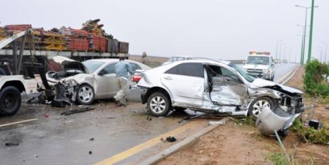 وفاة 9 فلسطينيين بينهم 7 أطفال بحادث سير بالسعودية