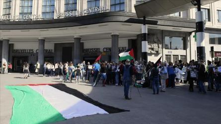 """بلجيكا.. وقفة داعمة لـ """"يوم الأسير الفلسطيني"""""""