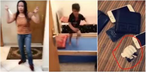 بالفيديو.. خادمة فلبينية تحتجز طفلًا وتهدد والدته بسكين