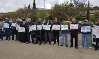 أهالي سخنين يحتجون ضد مخطط تجريف شارع في المدينة
