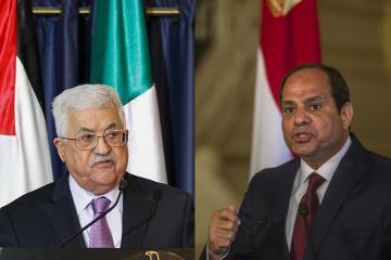 محمود عباس و عبد الفتاح السيسي