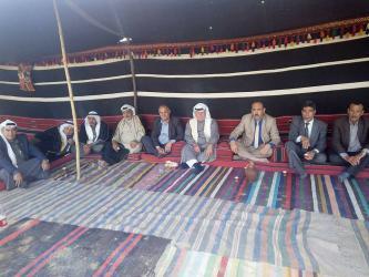 العشائر في القطاع تقيم ديوان العودة على الخط الفاصل شرقي مدينة غزة